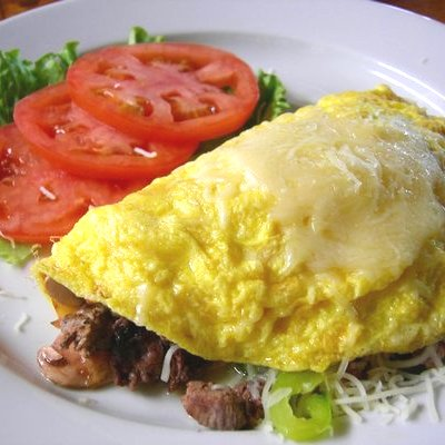 Easy Mushroom & Sun-Dried Tomato Omelet Recipe — Dishmaps
