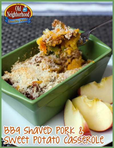 BBQ Shaved Pork & Sweet Potato Casserole - Completed