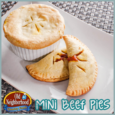 Mini Beef Pies • Old Neighborhood Foods Beef Shaved Steak Recipe