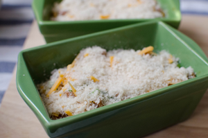 casserole dish topped with panko