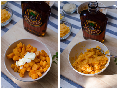 Mashed Sweet Potatoes prep