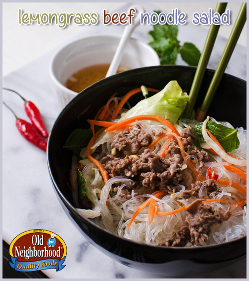 Lemongrass Beef Noodle Salad • Old Neighborhood Foods